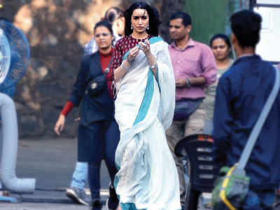Shraddha Kapoor spotted at a shoot in Goregaon