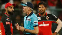 After verbal duel with Virat Kohli, umpire Nigel Llong damages door
