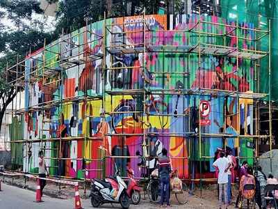 Mural will take you right to the art of vibrant Bengaluru