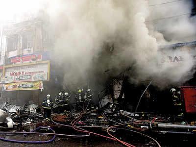 Major fire breaks out in busy Crawford Market