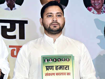 In manifesto for Bihar polls, Tejashwi promises jobs, vows to repeal Centre's farm laws