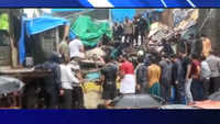 Mumbai rains: 3 people trapped as chawl collapses in Malvani area