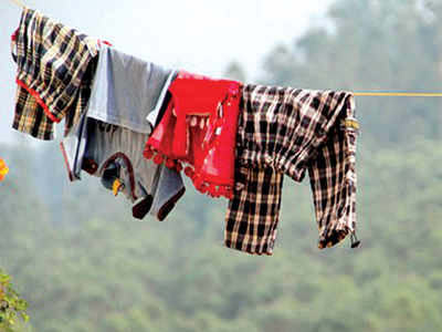 Techie finds drying clothes is a risk too