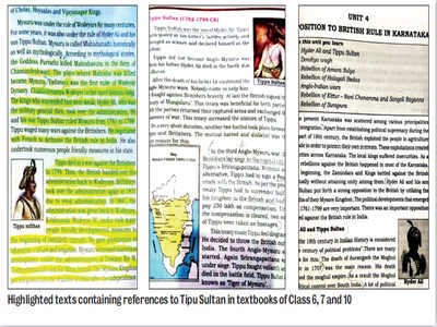 How do textbooks talk Tipu Sultan?