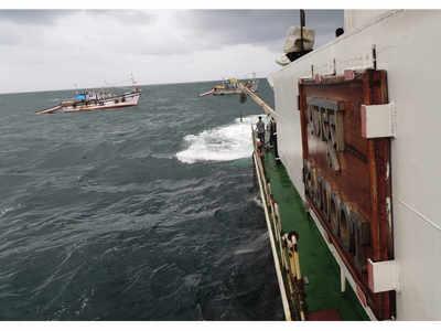 Karnataka: Coast Guard Ship Rajdoot rescues 23 people stranded off Bhatkal coast