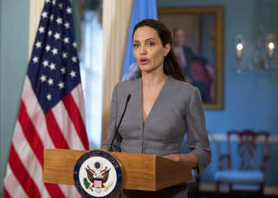 Angelina Jolie trashes President Donald Trump's immigration ban