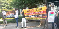 Baloch activists stage protest against enforced disappearances in S Korea's Busan