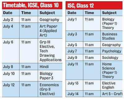 CISCE declares revised timetable for board exams; papers from July 1-14