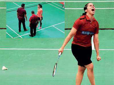 Saina Nehwal refuses to play singles match due to uneven court surface