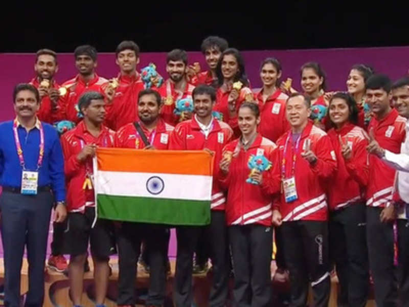 Gold in Mixed Team Badminton