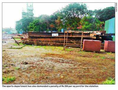 Fight over 5,000 sq m at Azad Maidan - After trees, Metro-3 cuts space for sports