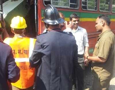 Mumbai: BEST Bus catches fire in Thane, no casualties reported