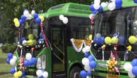 Srinagar: Governor Satya Pal Malik flags off electric buses