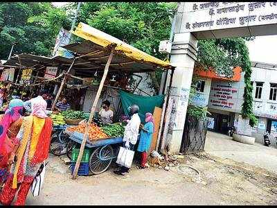 Kothrud COVID centre a vegetable market