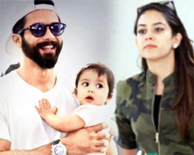Shahid Kapoor whisks off wife Mira Rajput and daughter Misha on a holiday to America