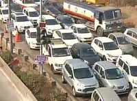 Road traffic comes to halt ahead of Republic Day dress rehearsal