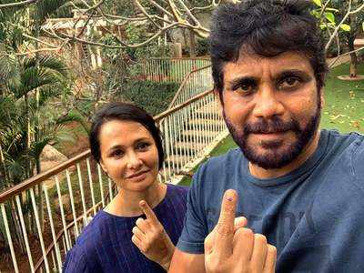 From Nagarjuna and Amala to Sania Mirza and Chiranjeevi, Telangana's celebrities come out to vote