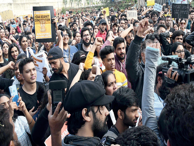 CAA protest in Bengaluru: Police detain 9 students