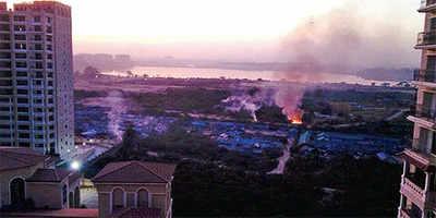 From toxic sewage to toxic fumes at lake