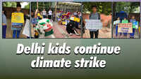 Delhi kids continue climate strike
