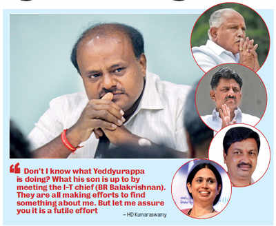 HD Kumaraswamy: BS Yeddyurappa, Delhi are trying to rock my boat using agents, agencies
