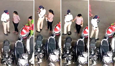 Female cop taking bribe in viral video suspended by DCP, departmental inquiry launched