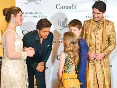 Canadian PM Justin Trudeau meets Shah Rukh Khan, Farhan Akhtar, Anupam Kher and others in Mumbai