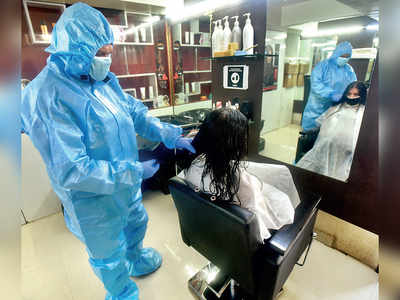 Pune: Making the cut after 3 months, salons reopen for business