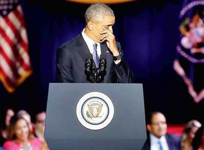Obama warns against threats to democracy in emotional last speech