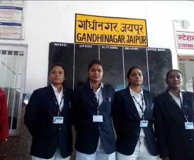 Jaipur: It's an all-women show at Gandhi Nagar Station