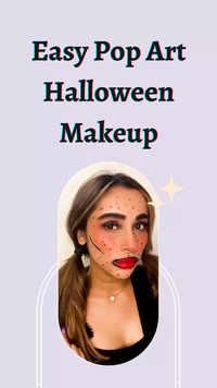 Easy pop art Halloween make-up