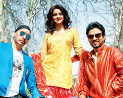 Irrfan and Saba groove to Sukhbir's song in Georgia