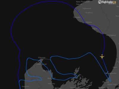 New Zealand flight boards 50 kids, draws giant kiwi in the sky