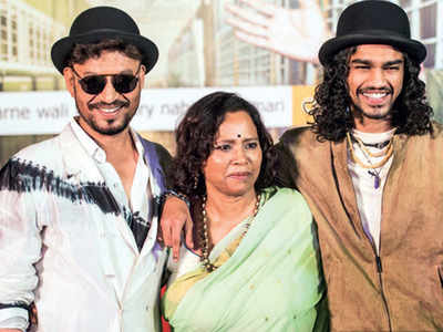 Irrfan Khan's wife Sutapa Sikdar welcomes son Babil home with ...