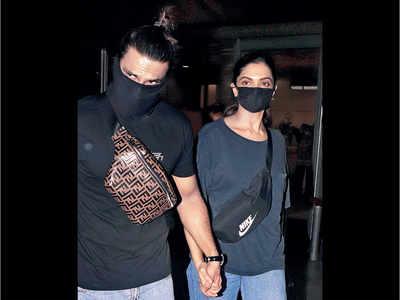 Deepika Padukone, Ranveer Singh return to Mumbai after trip to Bengaluru