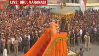 Lok Sabha polls: PM Narendra Modi begins roadshow in Varanasi