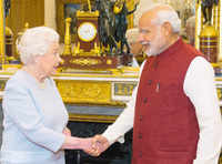 Queen Elizabeth II hosts PM Modi for lunch at Buckingham Palace