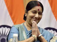 Watch: Moroccan singer welcomes Sushma Swaraj with Mahatma Gandhi's favourite bhajan