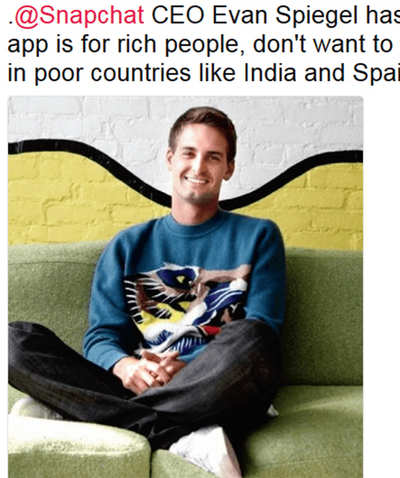 Fake News Buster: Snapchat CEO said app not for poor countries like India