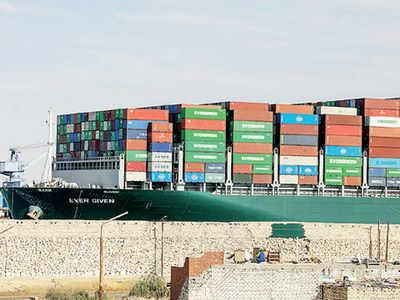 Stuck ship puts Suez Canal village into limelight
