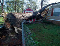 Watch: Storms damage Alabama trailer homes
