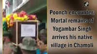Poonch encounter: Mortal remains of Yogambar Singh arrives his native village in Chamoli