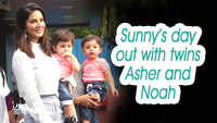 Mommy Sunny Leone's day out with twins Asher and Noah