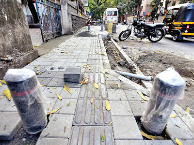 PMC undertakes revision of tactile markers on city's 40-km footpaths