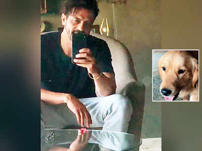 Arjun Rampal has a surprise visitor in his office