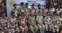 Delhi: ITBP DG felicitates Nanda Devi search team