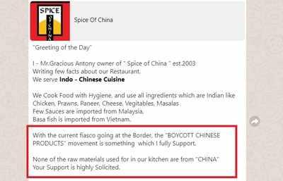 Chinese restaurant faces backlash amid rising anti-China sentiment
