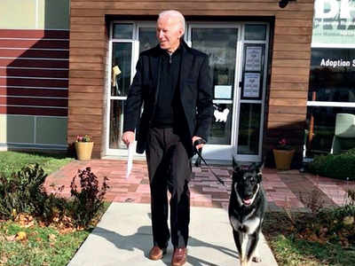 Joe Biden's German Shepherd gets 'indogurated'