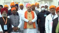Amit Shah visits Sachkhand Gurudwara in Nanded, Maharashtra