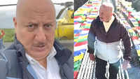 After crossing a rope bridge in Nepal, Anupam Kher faces his fear of flying